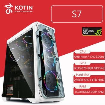 GETWORTH S7 Desktop Computer Ryzen 7 1700 GeForece GTX1080 240G SSD 1TB 500W Free LED Fans 8G RAM Win10 PUBG Free Shipping front lip for lexus gs350