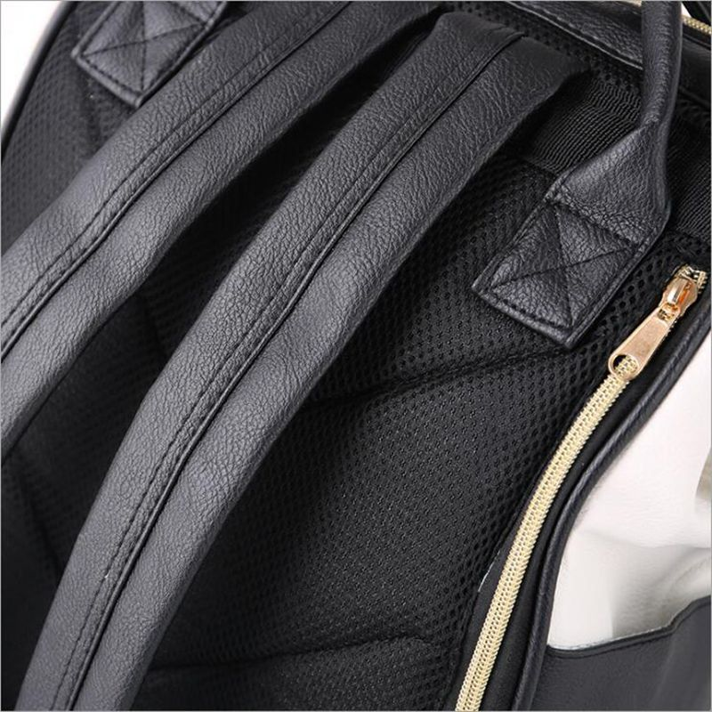 Pu Leather Ring Backpack School Bags For Teenagers Male Anello Backpack Sac A Dos Women Mochila Zaino Rucksack Seljakott #5