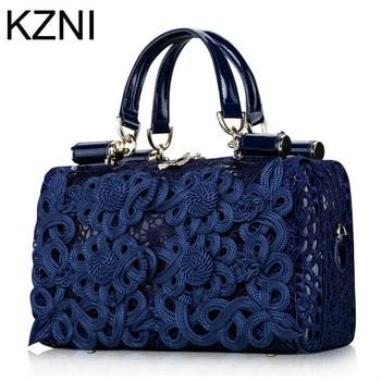 15d9c836a KZNI cuero genuino mujeres messenger bag famoso marca bolsos mujer de marca  famosa 2017 cuero genuino L032303