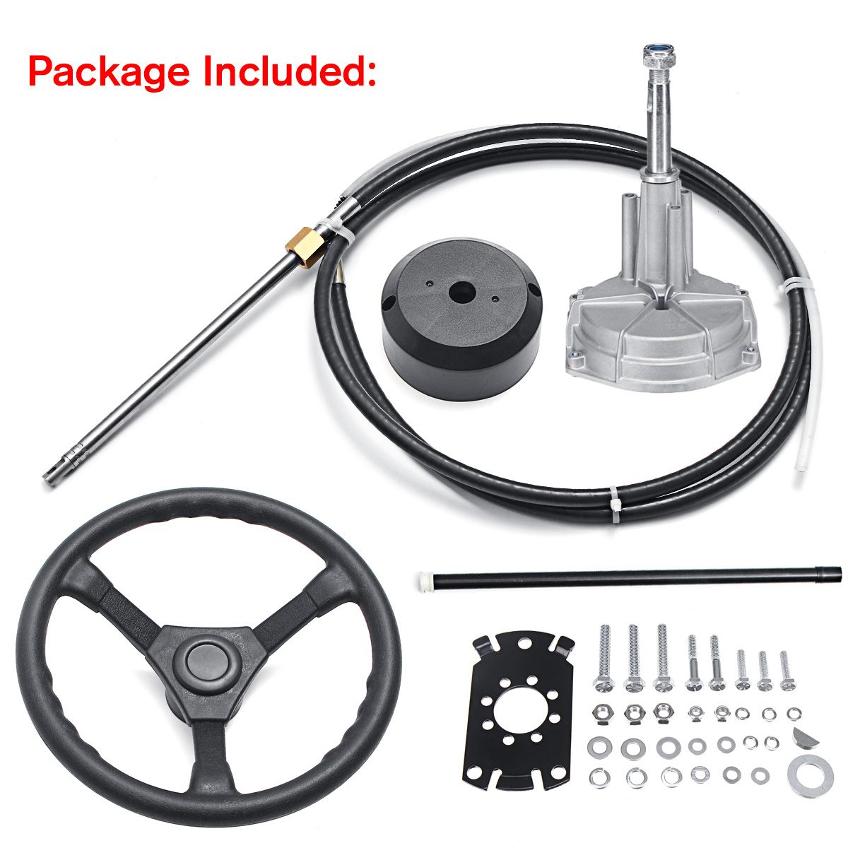 Mechanical-Cable Wheel Boat Steering-System Marine-Engine 90-Degree-Bearing Bezel-Kit