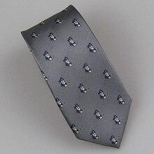 LAMMULIN Галстуки мужской костюм серый с синим/серебряным рисунком головы пирата жаккардовый галстук микрофибра тонкий галстук 7 см Gravata