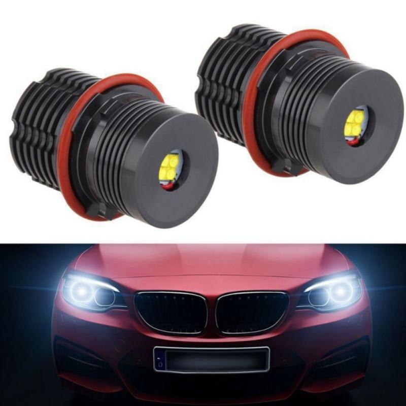 2018 New Car Lights 2PCS E39 40W For BMW Angel Eye Headlights Tools 5.23 Car Light Novelty Lighting
