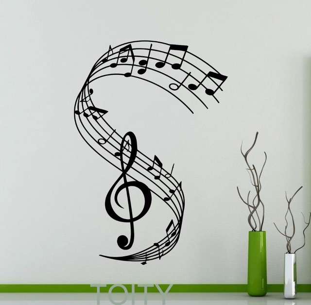 Decalcomania Della Parete Notazione Musicale Chiave Di Violino