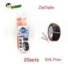 20 Sets DHL ZipClipGo Чрезвычайной Помощи Тяги Жизнь Заставка Профессии инструмент Для Автомобилей и Грузовиков, Который застрял В Дороге полезно