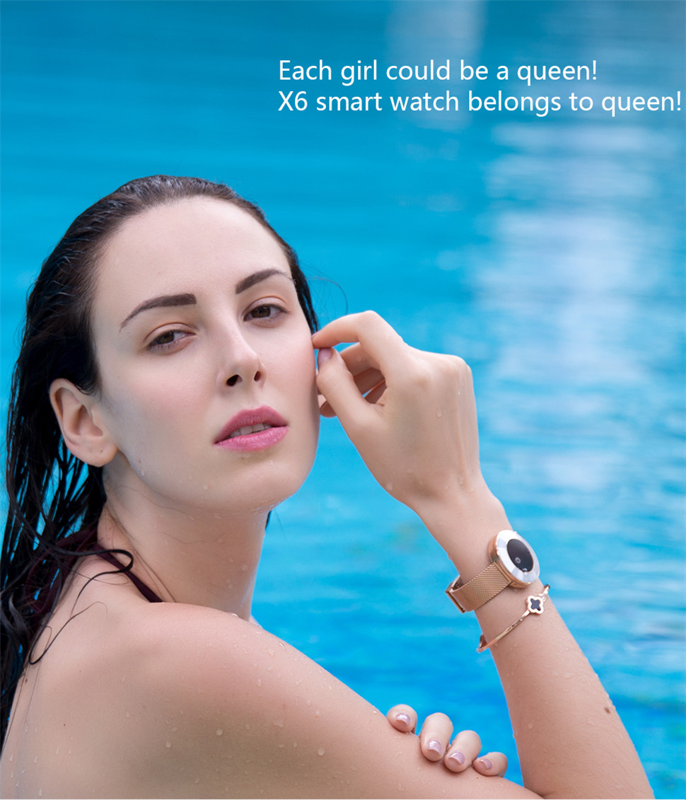 YKSO IP68 Waterproof Smart Bracelet Pedometer X6 Fitness bracelet Sleep Heart Rate Monitor Smart Bracelet (7)