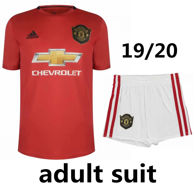 new style 1dabd ae8c9 US $21.99 |2019 Manchester united shirt LUKAKU POGBA Home Away 3rd 19/20  UNITED Soccer Jerseys ALEXIS MARTIAL RASHFORD Adults kit suit-in T-Shirts  ...