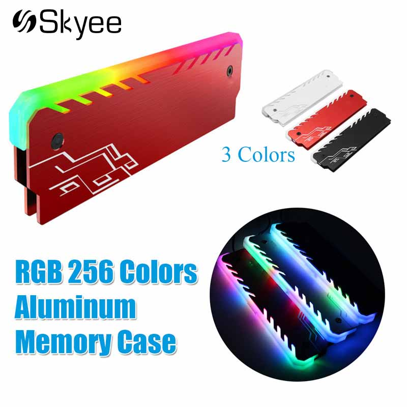 Aluminum Alloy RAM Cooling Shell Heat Sink RGB 265 Light Effect Memory Cooling Radiator Glow Desktop Memory Cooling Vest