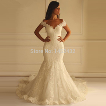 robe de mariage princesse Mermaid Wedding Dress 2016 Lace Appliques Vintage Sweetheart Wedding Dress Lace Back Wedding Gown