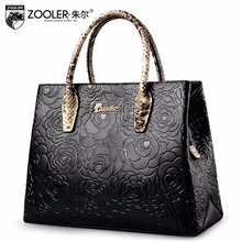 embossed pattern leather tote ZOOLER 2017 genuine leather bags handbag women bag real limited in stock bolsa feminina #5002