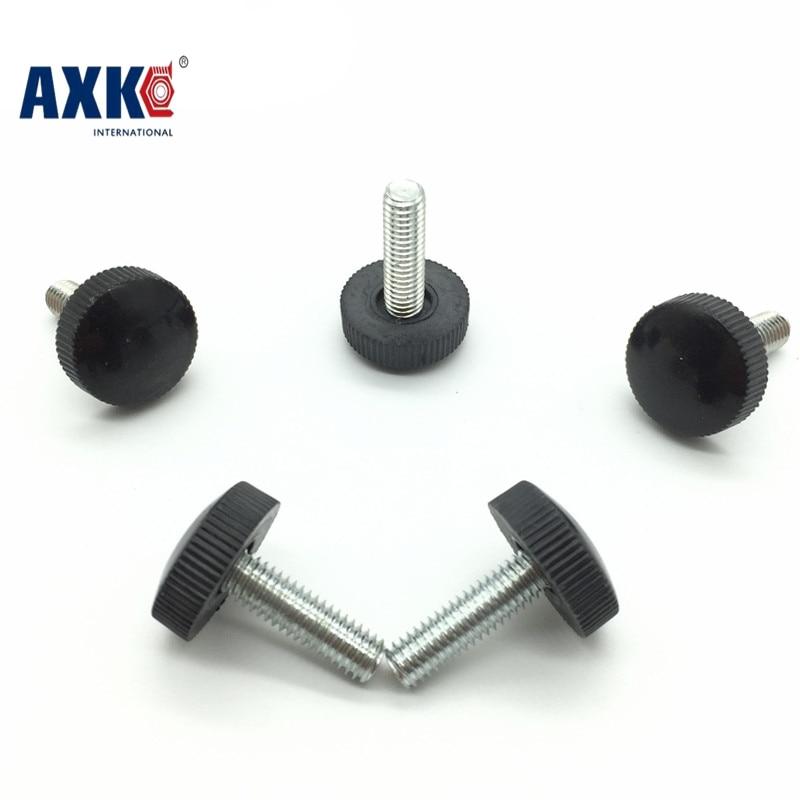 Drywall Limited Real Screws For Laptops 2018 Axk 50pcs M4*6/8/10/12/16/18 Black Plastic Knurled Hand Tighten Thumb Screw niko 50pcs chrome single coil pickup screws