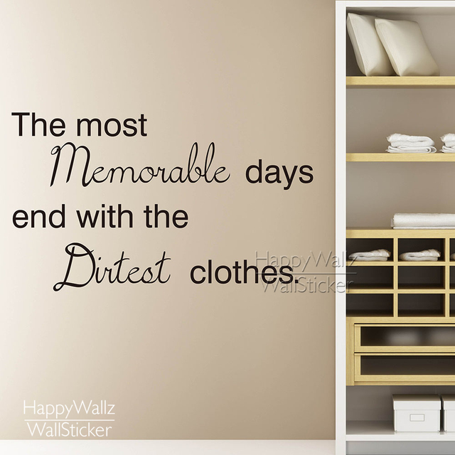 The most memorable days quote wall sticker laundry quote wall decal removable wall decoration vinyl wall