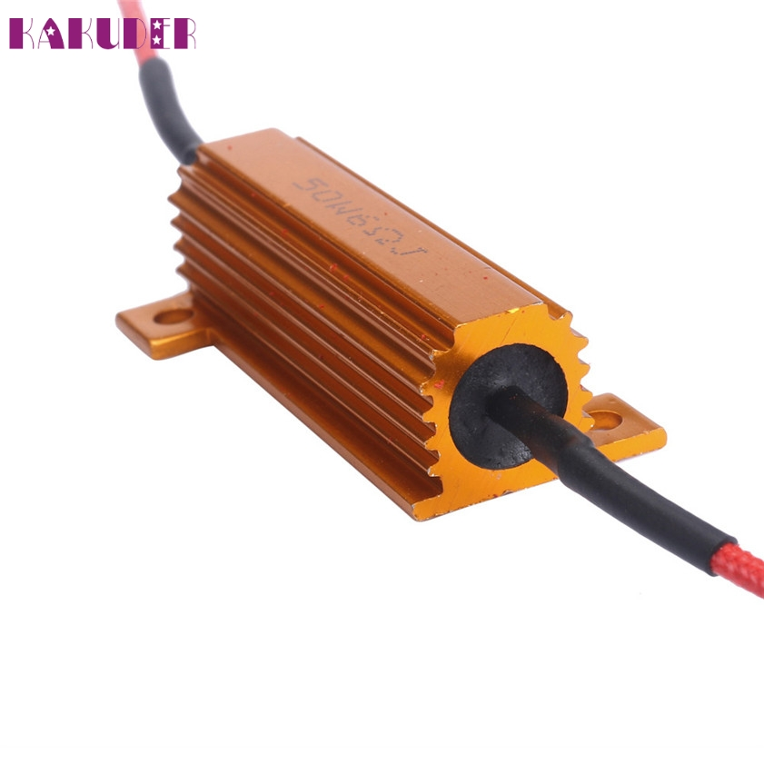 где купить High Quality 50W 6Ohm Car LED DRL Fog Turn Singal Load Resistor for Fix LED Bulb по лучшей цене