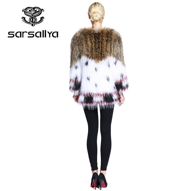 Femmes Manteaux multi Manteau De Réel Multi Renard 2 Fourrure Mode Tricoté 1 Naturel Chien Sarsallya Raton Laveur 8wXnk0OP