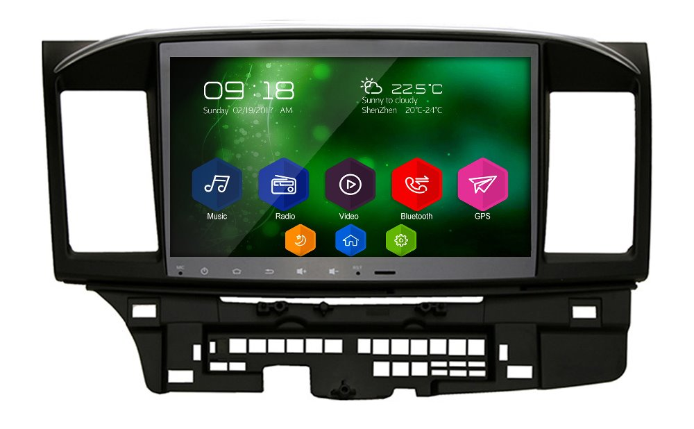 otojeta big car DVD player headunit audio tape recorder android 6.0 gps navi for Mitsubishi Lancer 2017 radio stereo multimedia