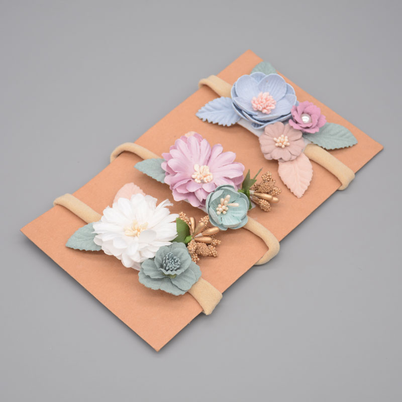 Newborn Photography Props Baby Girl  Fashion Florals Headband Elastic Princess Child Kids Pearl Fresh Style Headwear Accessories