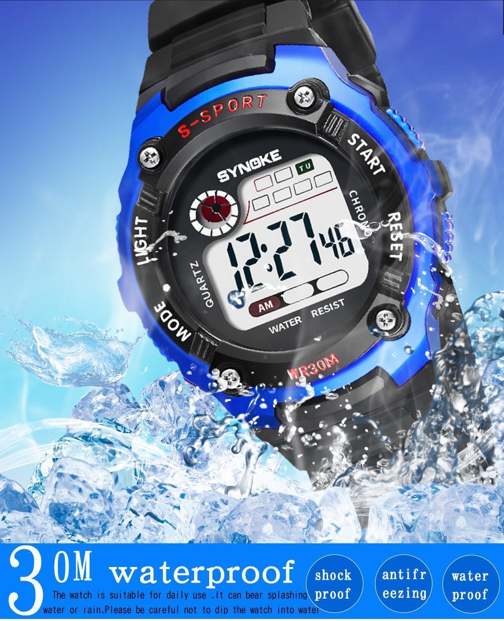 SYNOKE Sport Student Children Watch Kids Boys Girls Clock Child LED Digital Wristwatch font b Electronic