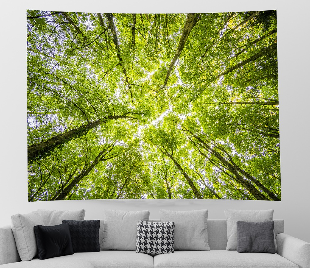 Forest Tapestry Wall Hangings Home Decor Blanket Green Tree 59 x 79 inch