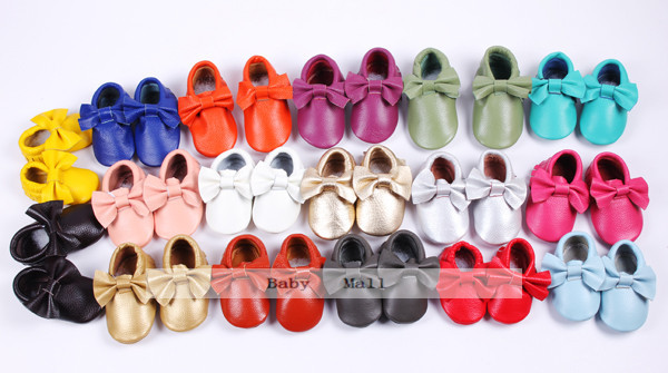 Infant Shoes Moccasins First-Walker Anti-Slip Newborn Soft 100%Genuine-Leather