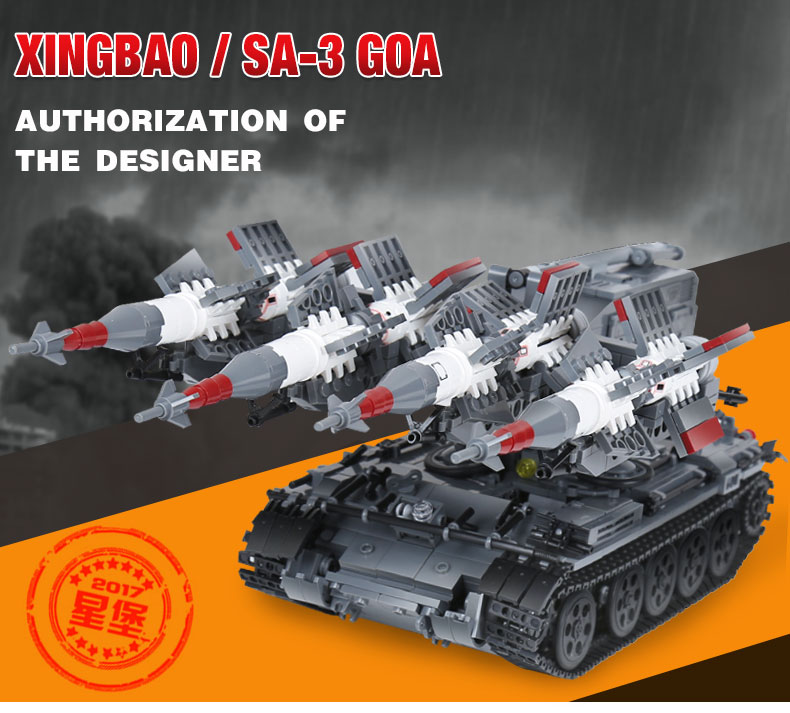 Genuine Creative MOC Military The SA-3 missile and T55 Tank Building Block Bricks Toys Compatible With Legoings Gifts For KidsGenuine Creative MOC Military The SA-3 missile and T55 Tank Building Block Bricks Toys Compatible With Legoings Gifts For Kids