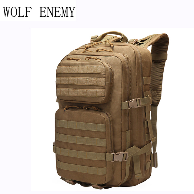 Military Tactical Backpack Large Army 3 Day Assault Pack Waterproof Molle  Bug Out Bag Rucksacks Outdoor 047954e4bfb4b