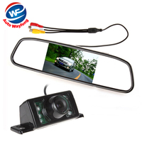 Parking Kit With 4 3 TFT LCD Display Car Rear View Mirror Monitor 7 IR Night