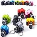 2016 LED Câmeras Câmeras de Carro Chaveiro Brinquedos Presentes Boneca de Som Brilhante Pingente Light Up Brinquedos Câmera Keychain