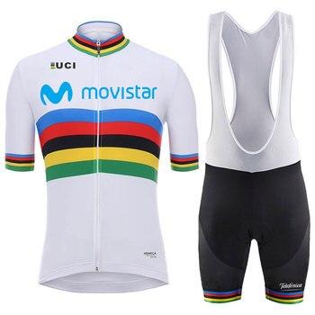 2018 novo campeão do mundo 16D Movistar bicicleta ciclismo jersey respirável ALMOFADA de GEL de bicicleta pano de corrida camisa de ciclismo maillot