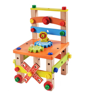 Montessori Material Wooden Toys for Children Disassemble Tool Chair Screw Nut Assembling Hobbies Learning Education Kids Gift