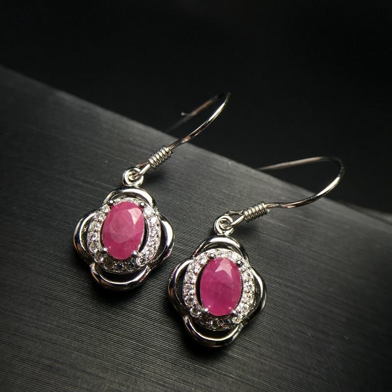 Boucles d'oreilles goutte de pierre de topaze rouge pour filles Uloveido pour femmes, boucles d'oreilles en argent Sterling 925 pour femmes filles 20% FR172 - 4