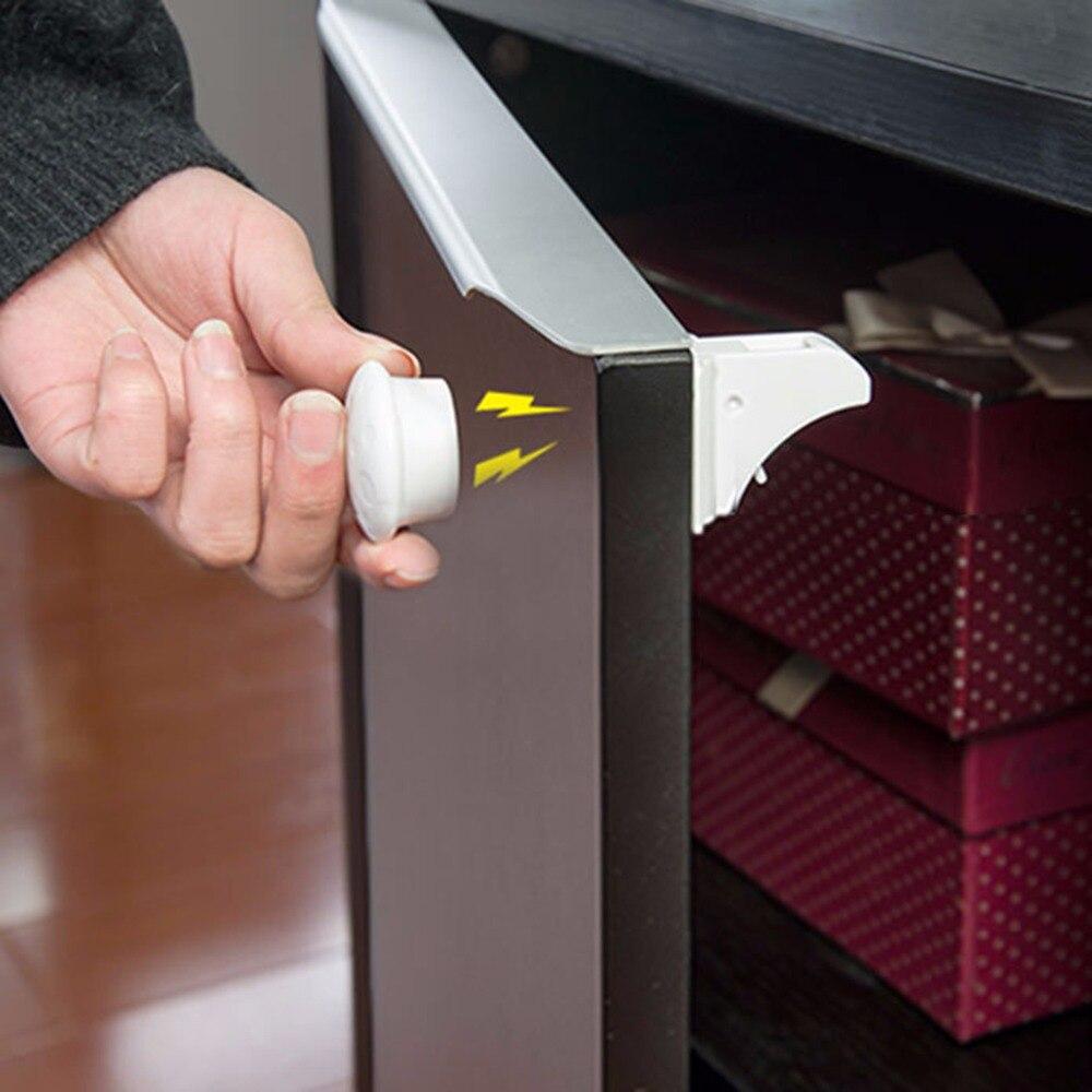 Nosii Baby Safety Magnetic Hidden Cabinet Lock Childproof Cupboard Latch For Kitchen Bathroom Storage