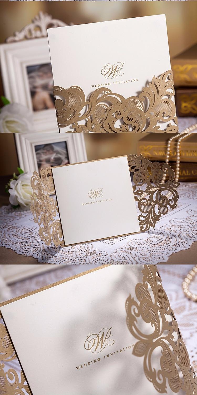 Sample link Wholesale Wedding Invitations Elegant Laser Cut Wedding ...