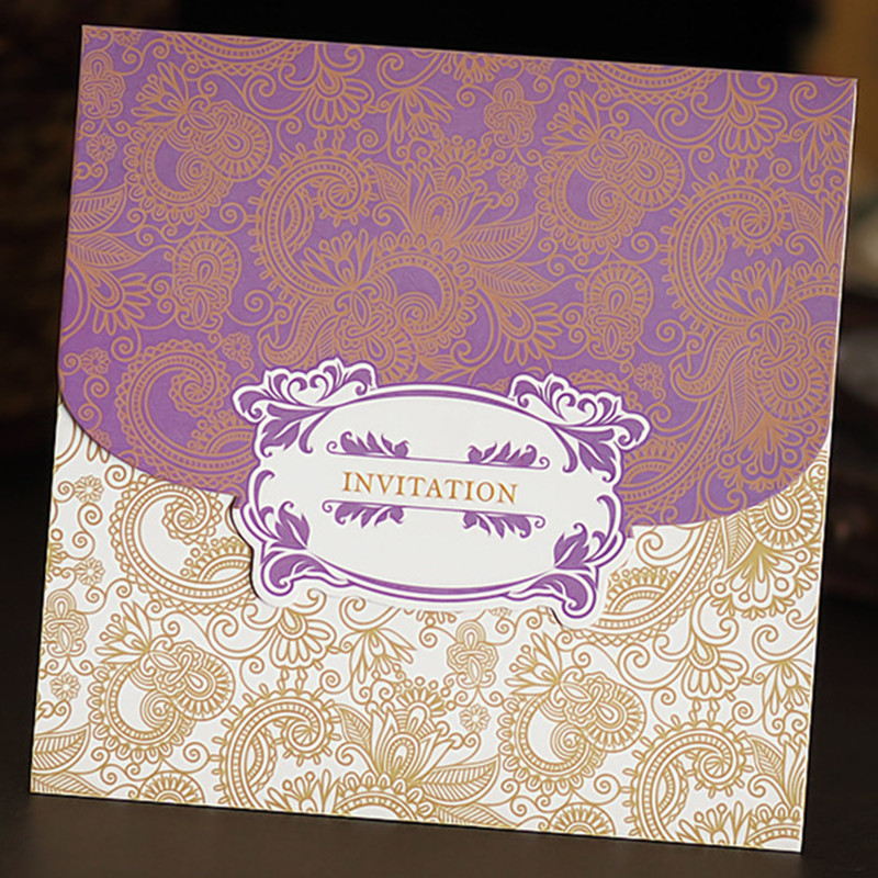 50Pcs Wedding Invitation Cards Korean pattern wedding invitations ...