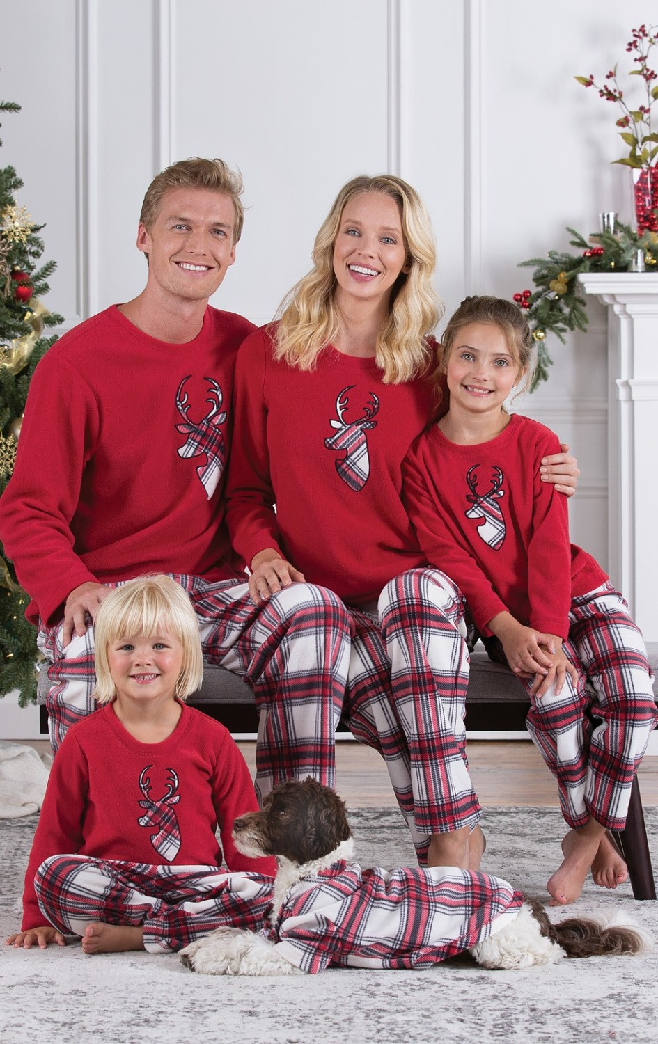 Matching Family Christmas Outfits.Matching Family Christmas Outfits Pajamas Set Warm Adult Kid Girl Tshirt Tops Sleepwear New Year Clothes Father Mother Daughter