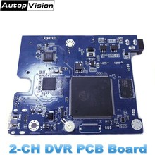 10PCS HD 1080P 2 kanal SD DVR PCB Board Echt-zeit mit fernbedienung Mini Fahrzeug Mobile bus DVR Board support 128GB DHL FREIES