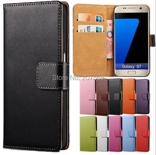 1e3e68d2985 For Galaxy S7 Edge Flip Case Protection Book Kickstand Card Pocket Shell Wallet  Leather Cover
