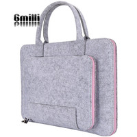 Wool Felt Casual 17 16 15 12 11inch Laptop Bag Notebook Handlebag Messenger Shoulder Bag For