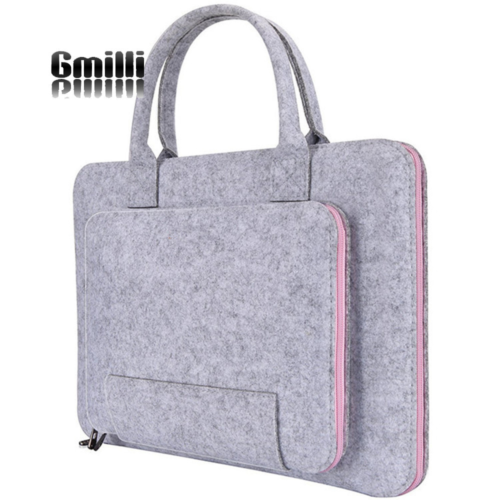 Gmilli Wool Felt Casual 17 16 15 12 11inch Laptop Väska Notebook - Laptop-tillbehör