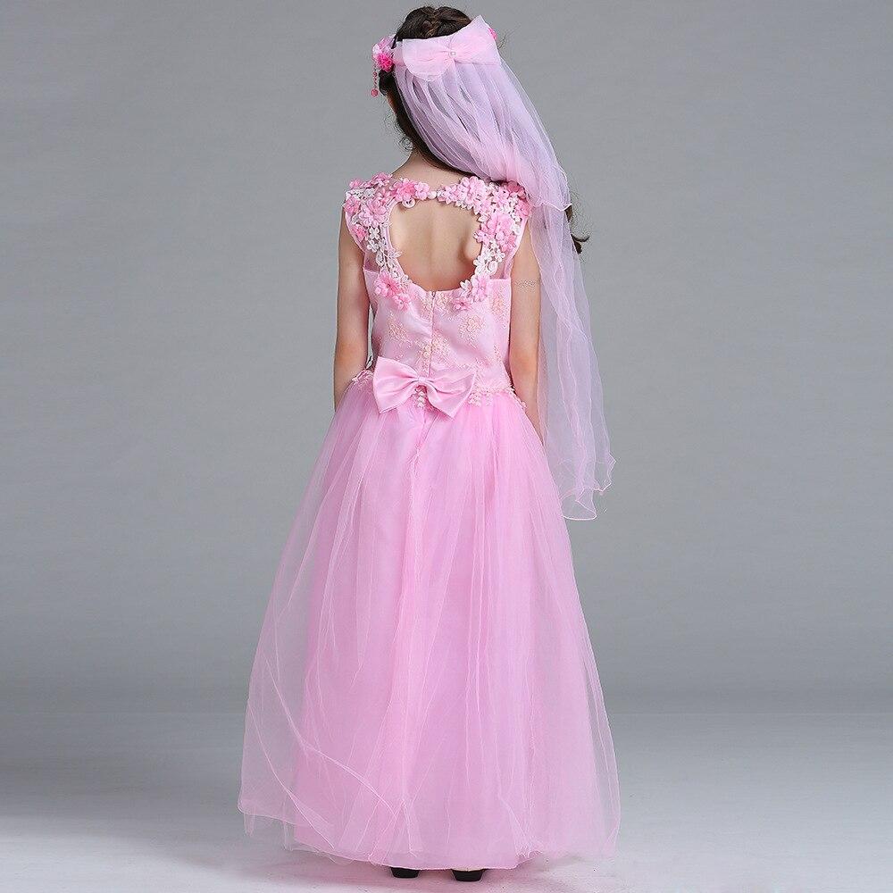Goede kwaliteit mooie bloem meisjes jurken lange baby meisjes - Kinderkleding - Foto 3