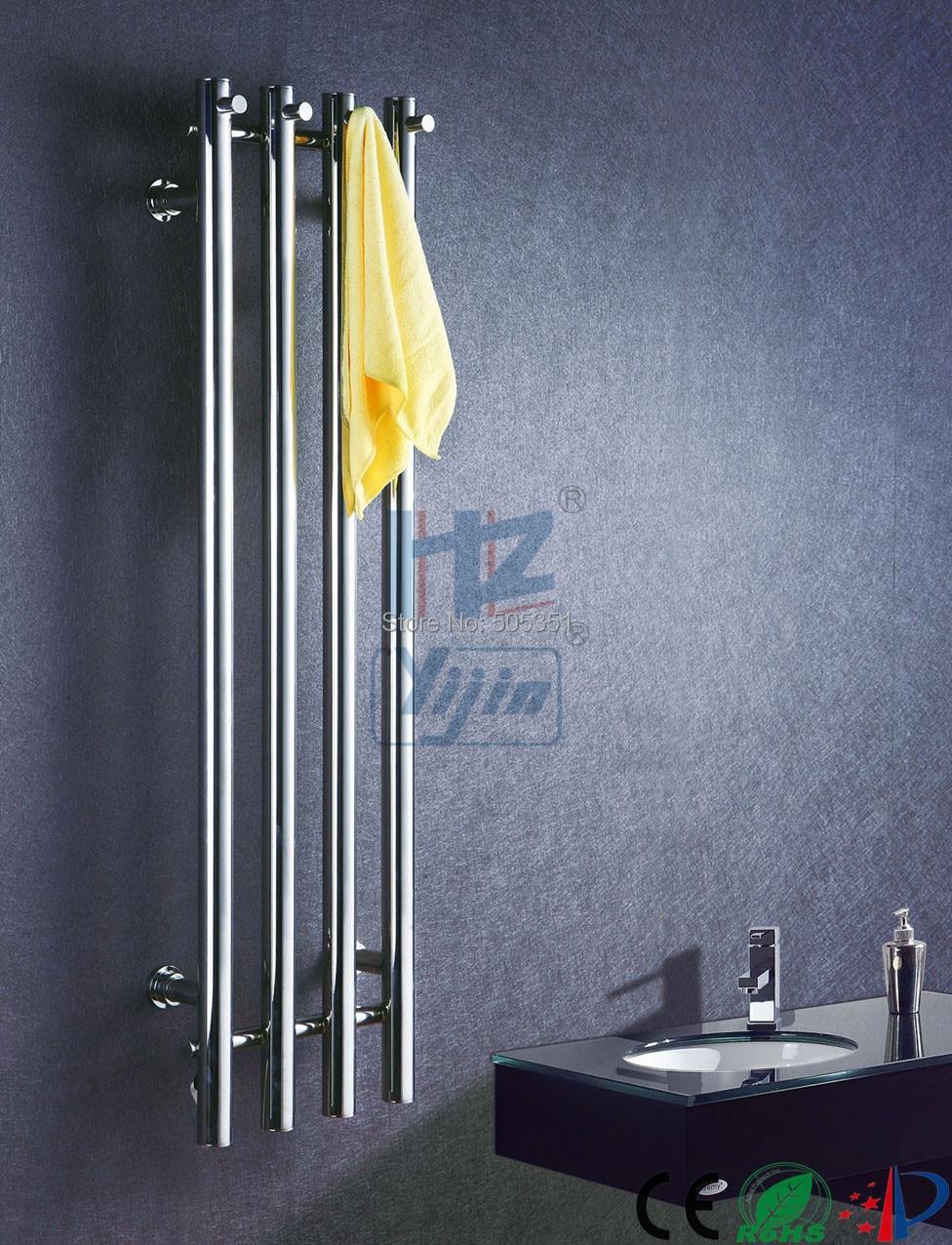 Buy Vertical Wall Mount Bathroom Towel Rack Heated Towel Racks Stainless Steel