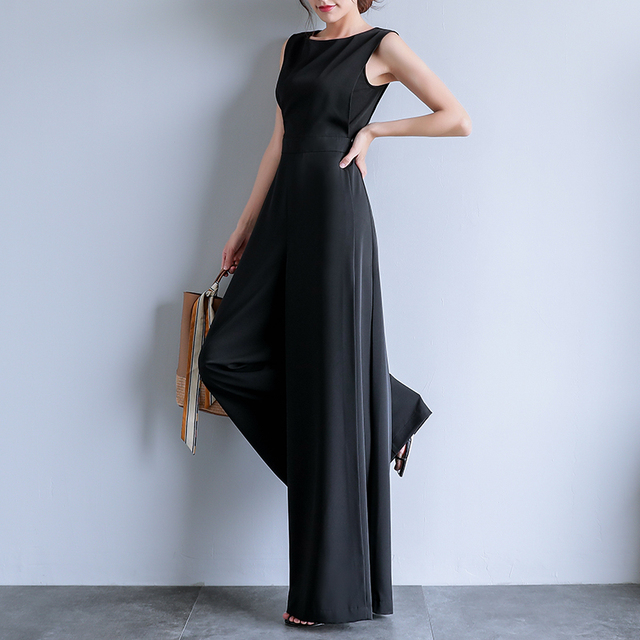 Female Elegant Loose Jumpsuit Trousers