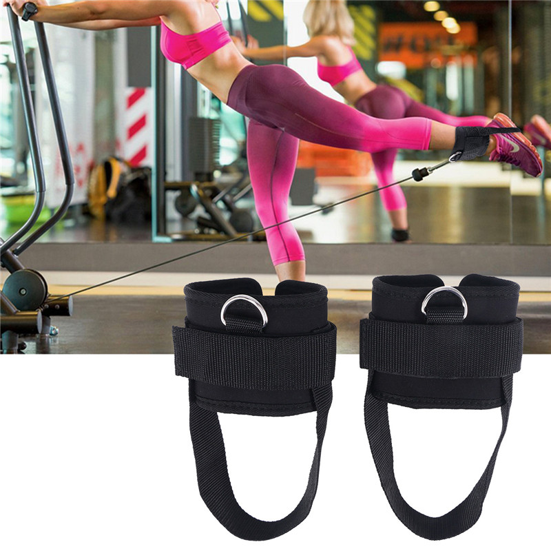 Ankle Straps for Cable Machines Adjustable Strap with D-Ring for Leg Workout