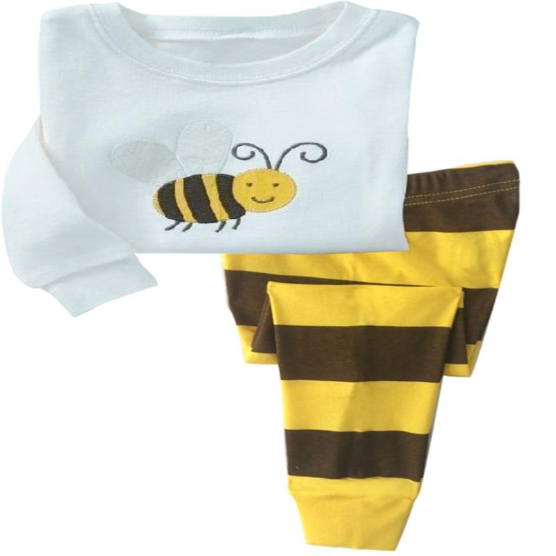 Promotion kids pajamas set Children Cartoon sleepwear Boys Home pajamas girls cotton sweet animal pyjamas 2-7T nightwear