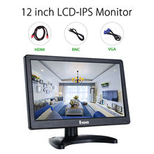 EYOYO H1116 12″ LCD Security Monitor HD 1366×768 IPS With HDMl BNC Cable Audio Video Display For PC Camera CCTV DVR Home/Office
