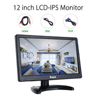 Eyoyo h1116 12 ЖК дисплей безопасности Мониторы HD 1366x768 IPS с HDML BNC кабель аудио видео Дисплей для pc Камера CCTV DVR дома/офиса