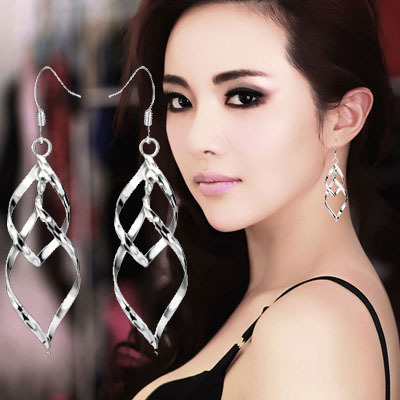 2017 hot sell fashion flower 925 sterling silver ladies stud earrings jewelry wholesale anti-allergic gift