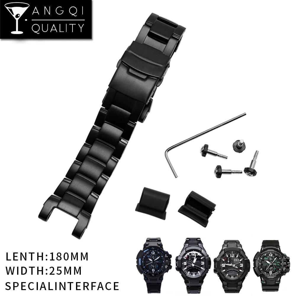 24 MM bracelets de montre Pour Casio g-shock Homme En Acier Inoxydable Montres Bracelet pour GW-A1100 GA-1000 GW-A1000 GW-3500BD/GW-3000BD Bracelet