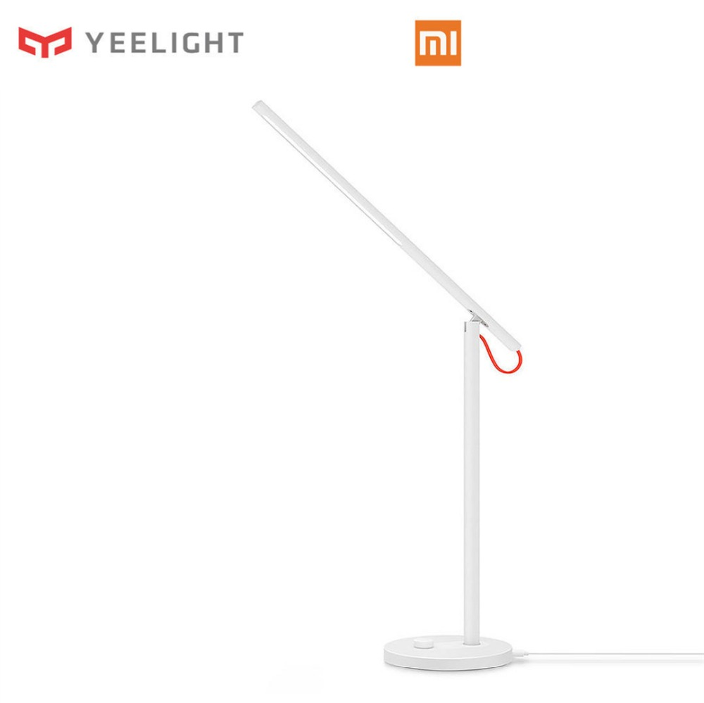 Original Xiaomi Yeelight Desk Lamp Mijia LED Smart Table Lamps Desklight Led Light Study Support Mobile Phone App Remote Control original xiaomi yeelight led smart bulb colorful e27 9w 600 lumens mijia light xiaomi smart phone wifi remote control