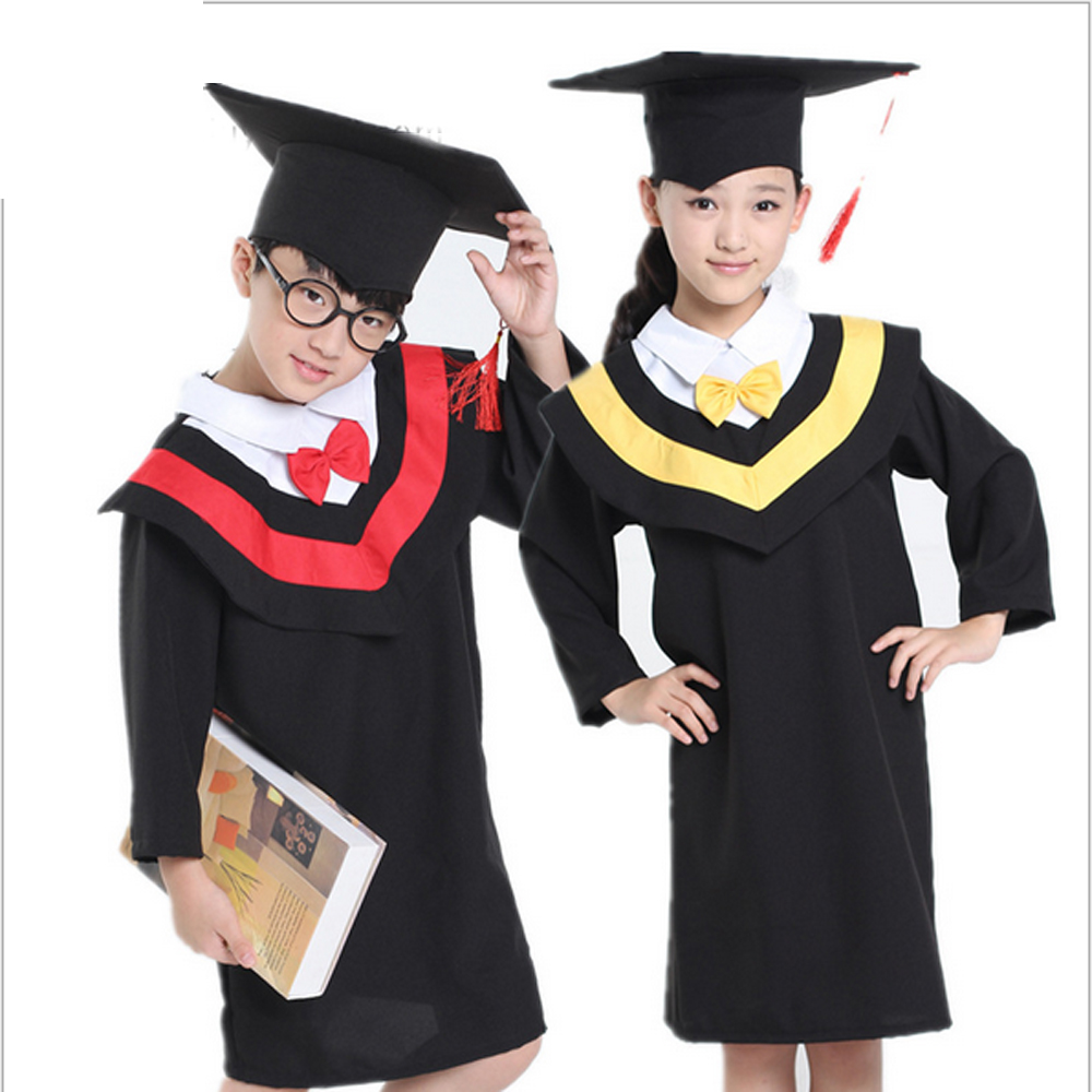 Bazzery Children's Performance Clothing Academic Dress Gown Unisex Kindergarten Dr. Cloth Graduated Bachelor Suits Dr. Cap