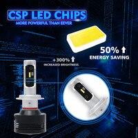bulb 12v YIRAY 2PCS Hight Bright Car LED Headlight H4 H7 H11 H1 H3 H8 H9 9005 9006 CSP Chip Car LED Bulb Fog Light 72W 9200LM 6500k 12V (2)
