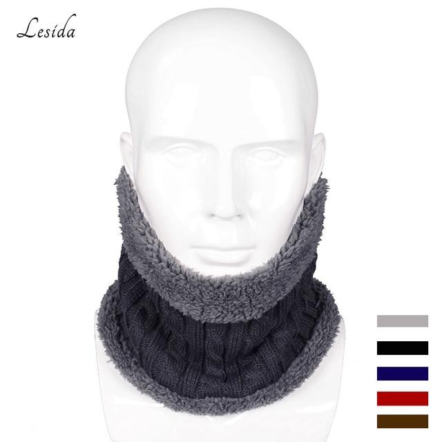 Lesida invierno hombres bufanda tubular Masajeadores de cuello ...